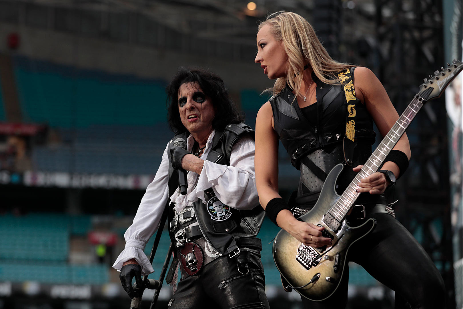Alice Cooper Breaks Cane Onstage, Accidentally Hits Nita Strauss