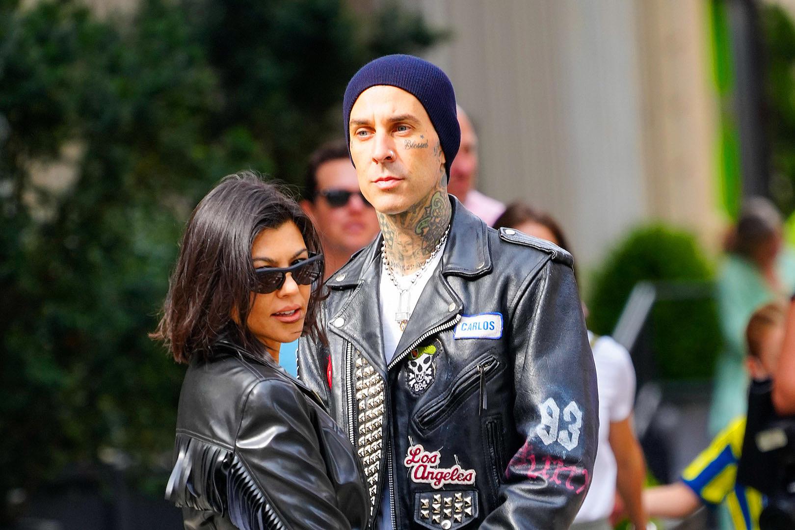 Blink-182's Travis Barker + Kourtney Kardashian Just Got Engaged