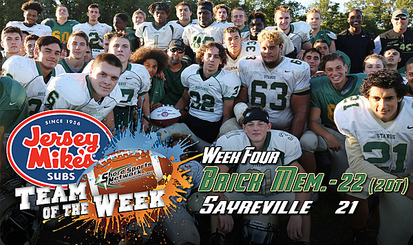 Jersey Mike's Shore Conference Football Team of the Week