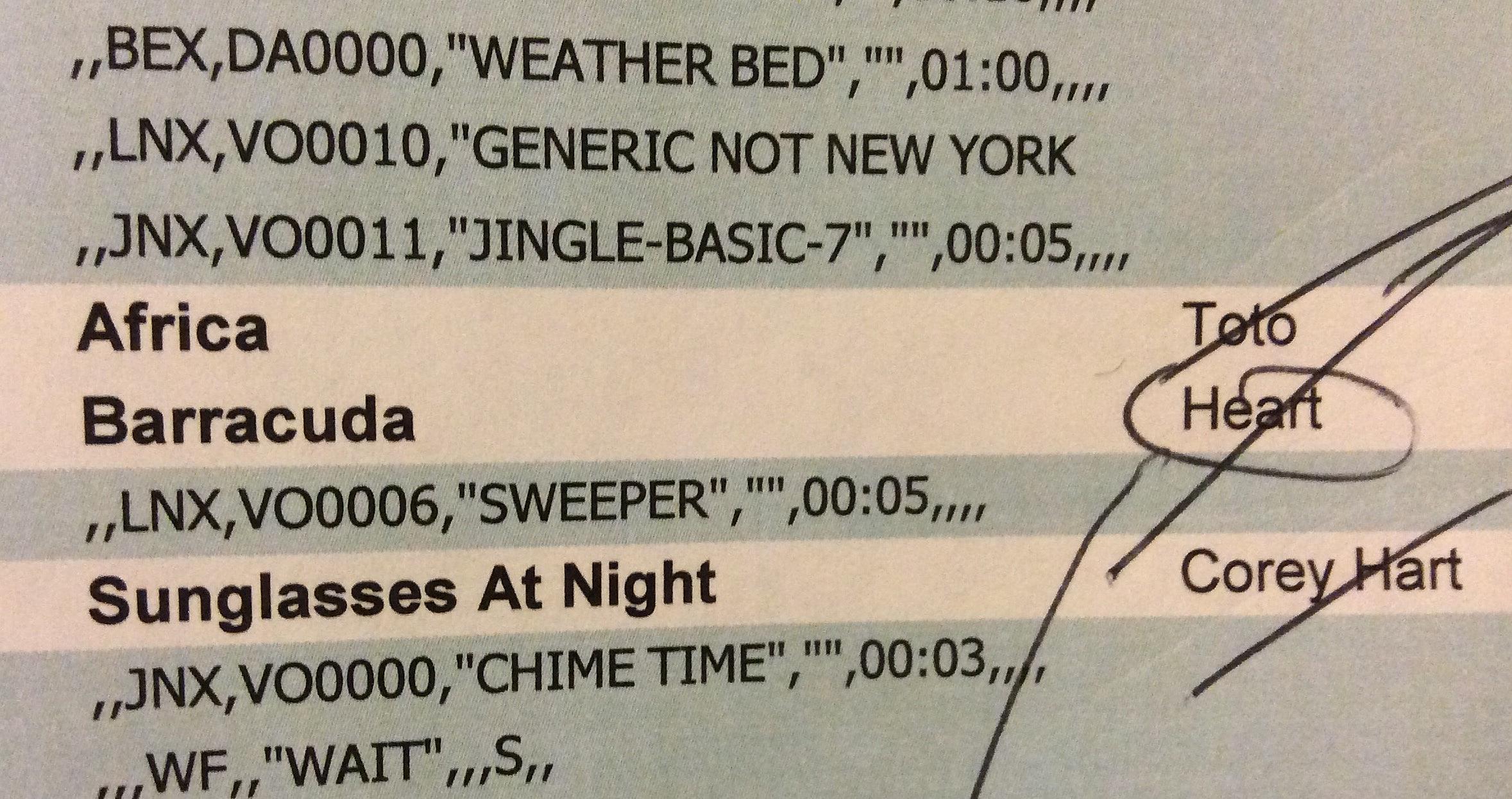 "Craig Allen's Fun Facts: Corey Hart ""Sunglasses At Night"""