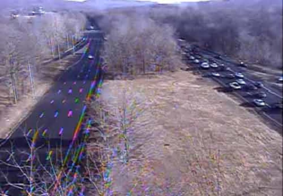 Huge delays on Route 287 because of overturned tractor trailer