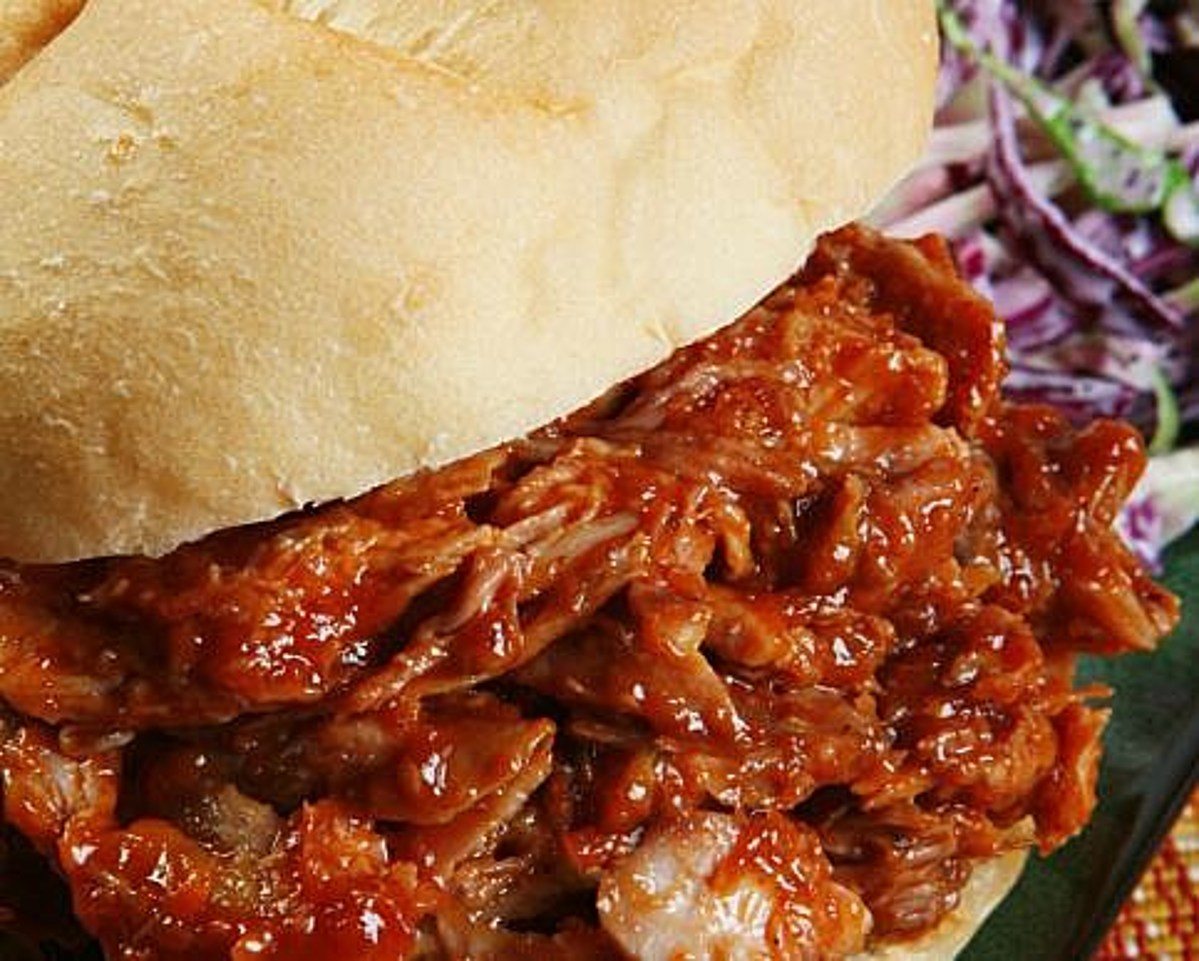 Big Joe's BBQ Pulled Pork with Purple Apple Slaw