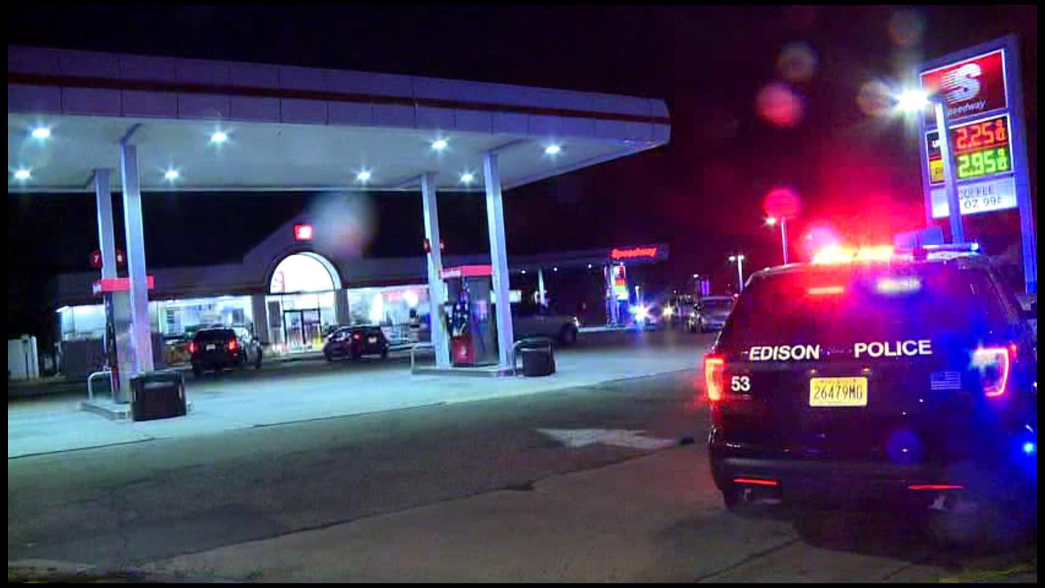 edison nj shooting gas station