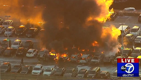 Car Catches Garage On Fire In Rochester: Cars Catch Fire At Newark Airport Parking Garage