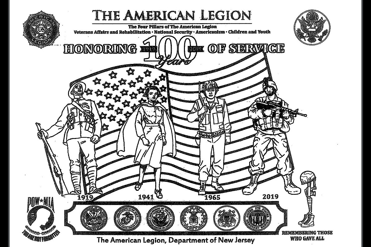 100 Americanism nj district won't ban coloring contest over soldiers' guns
