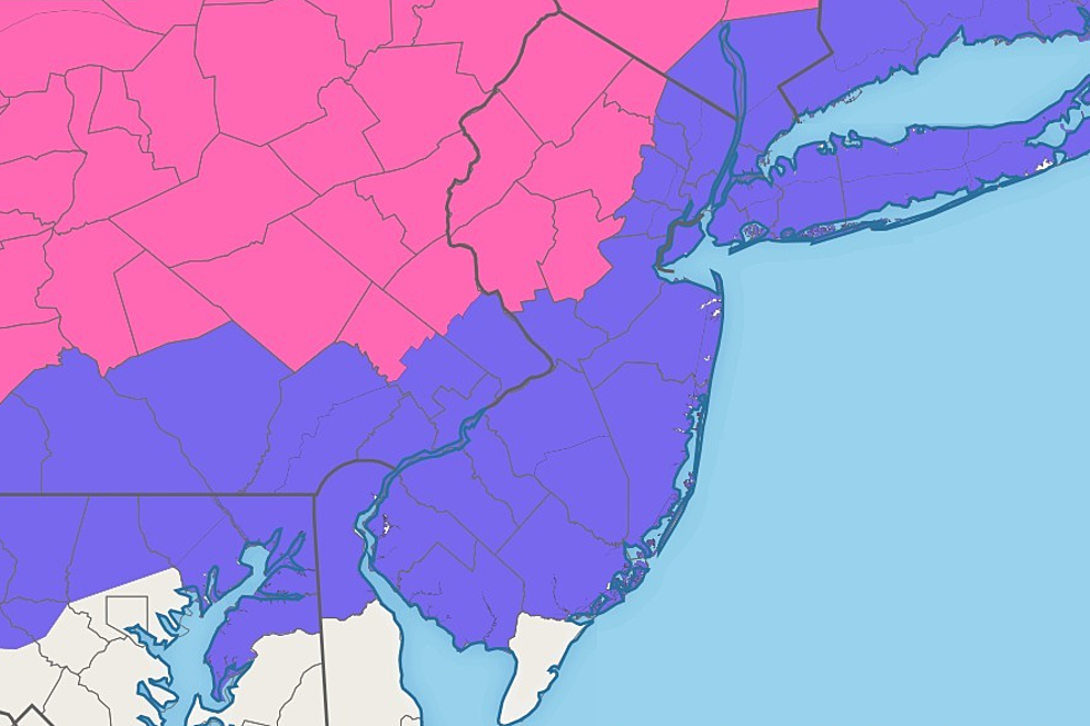 Winter Storm Warning: Snow-ice-rain hour-by-hour forecast for NJ
