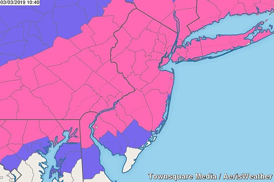 Heavy snow, sleet, rain for NJ Sunday night: Timeline and totals