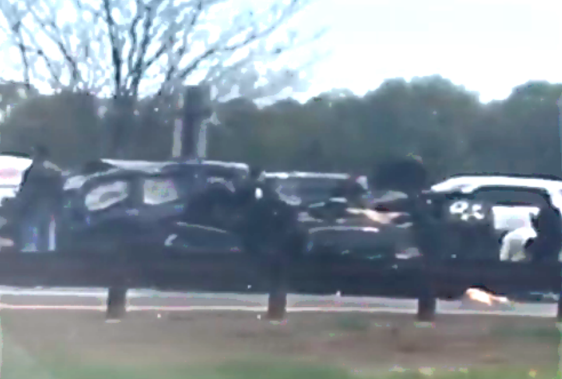 Parkway crash on April 27, 2019. (Marjorie Findlay)