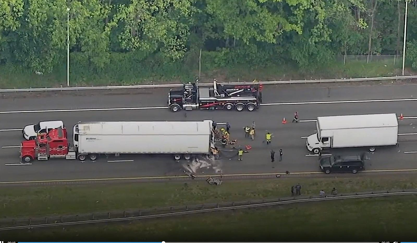 Rt  78 West totally closed by one crash, a second kills driver