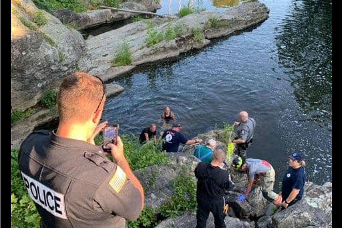 NJ teen falls 35 feet onto rocks at remote swimming hole — survives