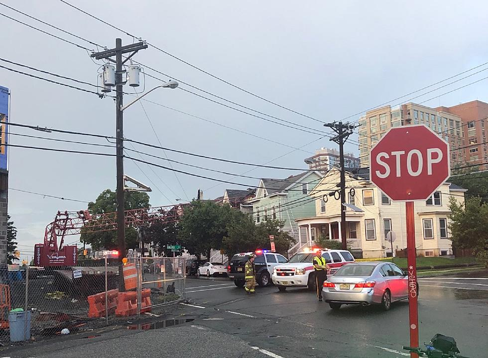 Thunderstorm brings down crane onto New Brunswick roof