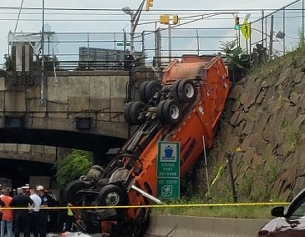 Truck falls on Route 495: Driver hit gas, not brakes, probe finds