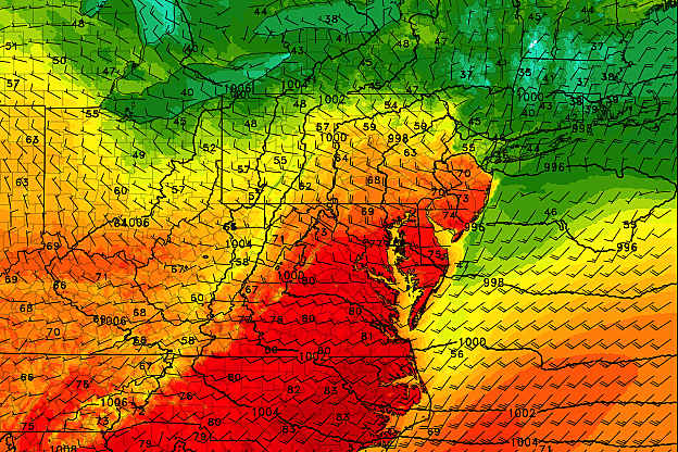 Warm temps continue for NJ, but weather turns more unsettled