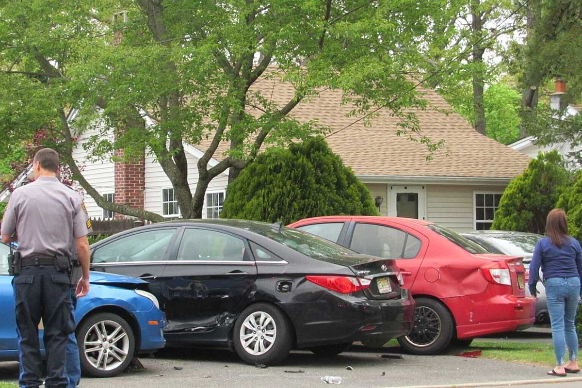 Unlucky strike in Toms River: Driver who dropped cigarette hits people, cars, mailbox