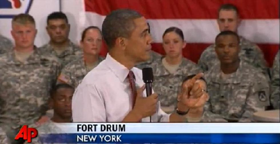 President Obama Visits Soldiers At Fort Drum [VIDEO]