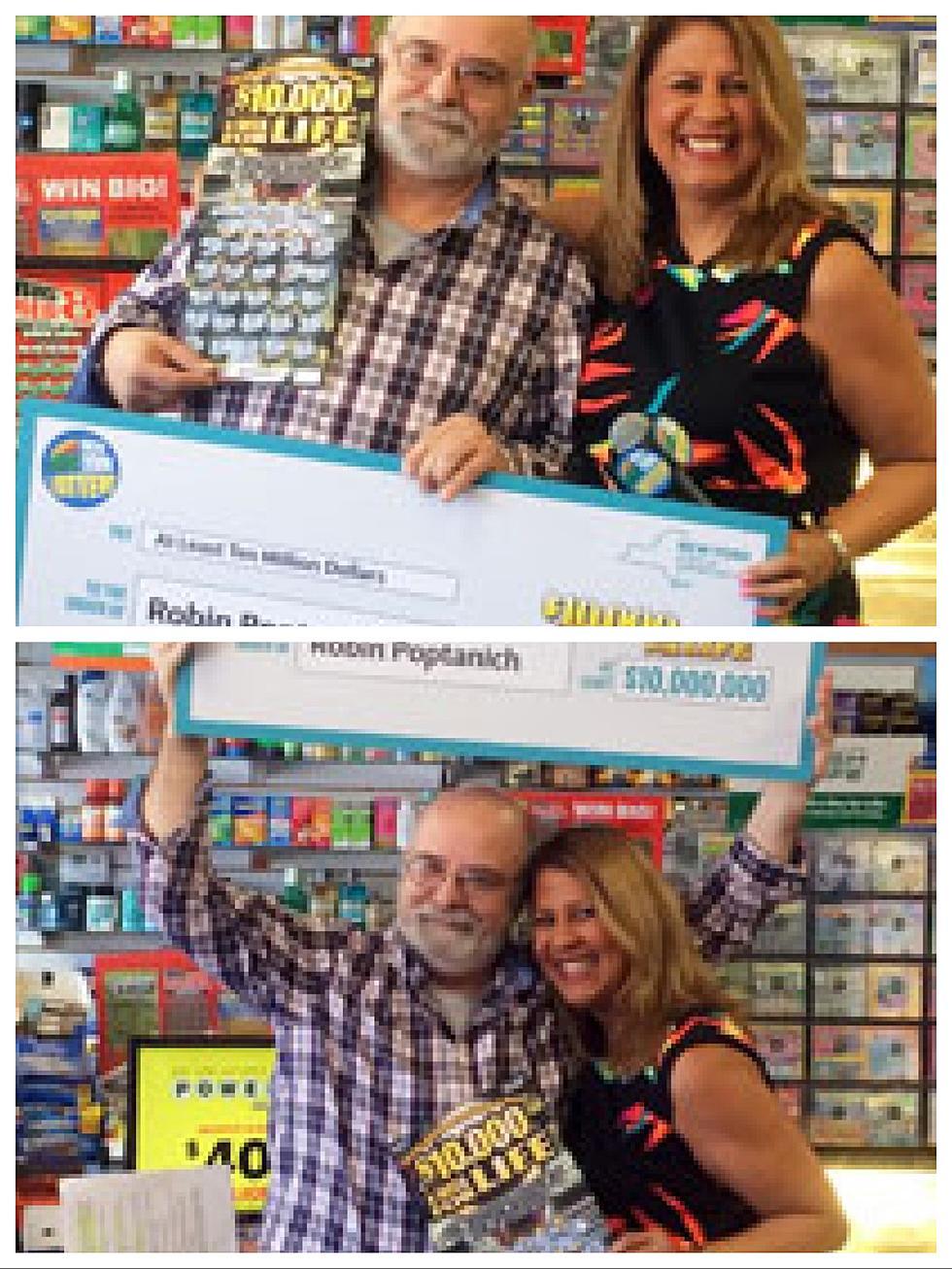 NY man wins $10,000 a week for life
