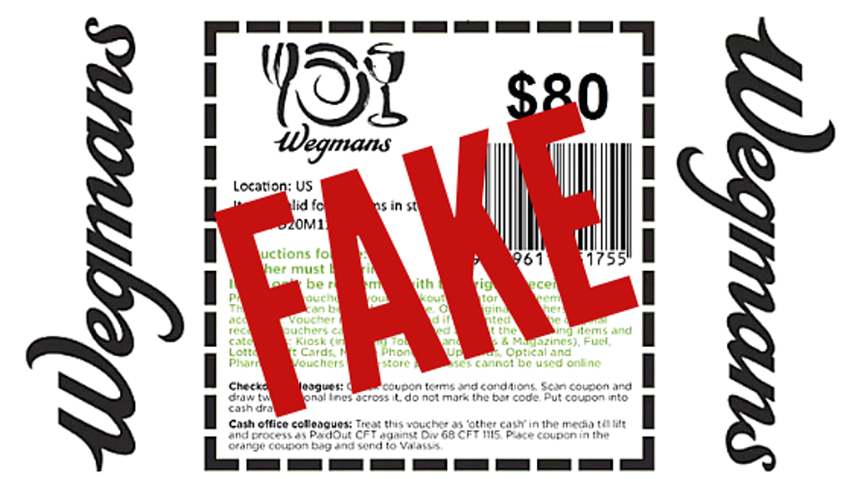 That's $80 Wegman's Coupon on Your Facebook Feed is Fake