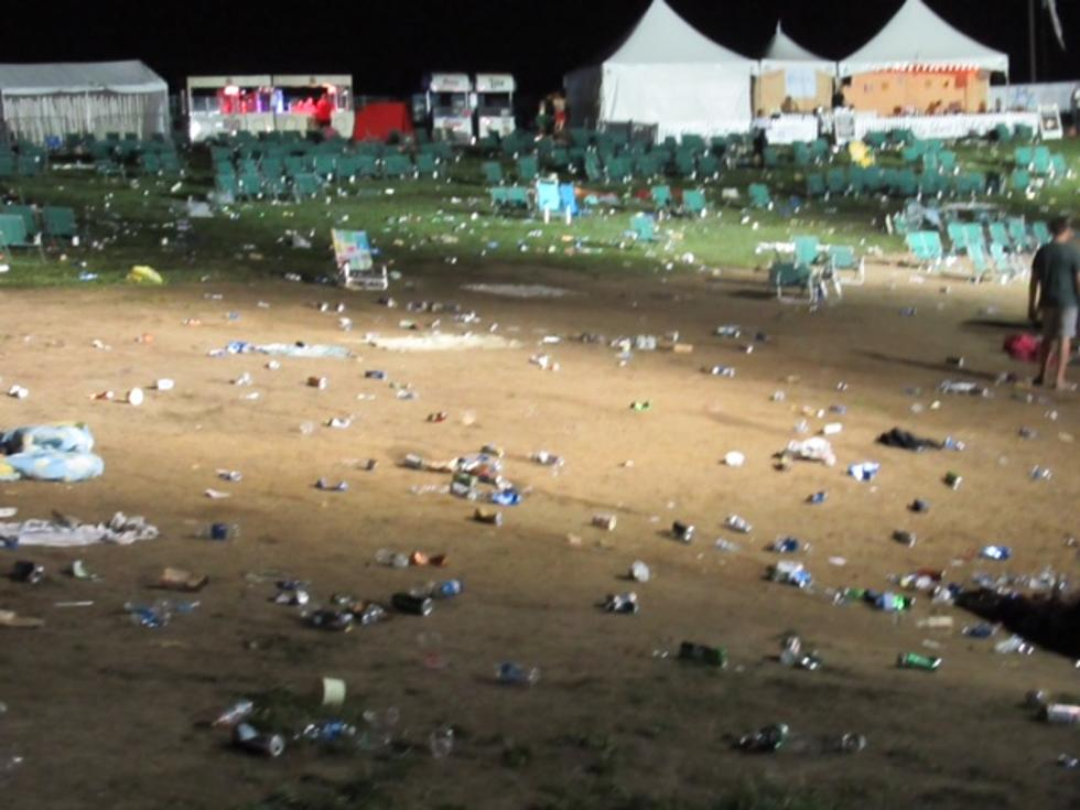 TRASHED: The Aftermath of a PNC Bank Arts Center Concert