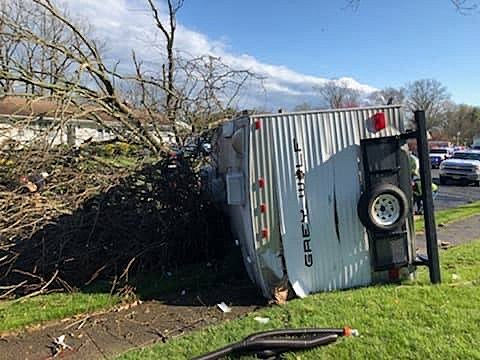 WATCH: Winds from Last Week's Storm Blow a Truck Over in TR