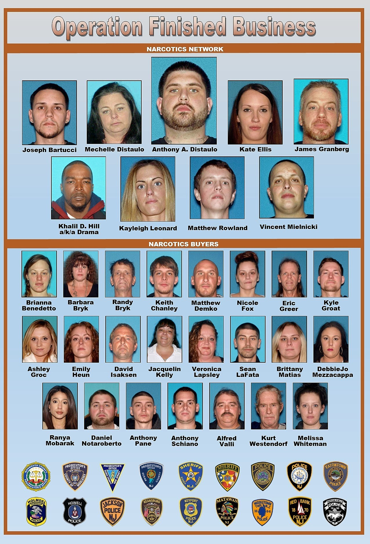 32 residents charged in massive heroin distribution network