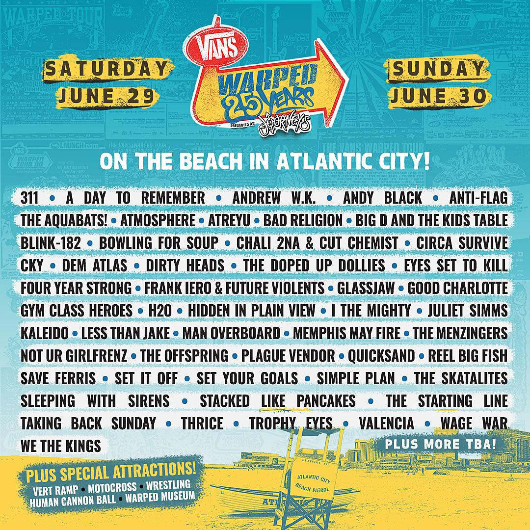 Vans Warped Tour Announces Awesome Lineup for Atlantic City