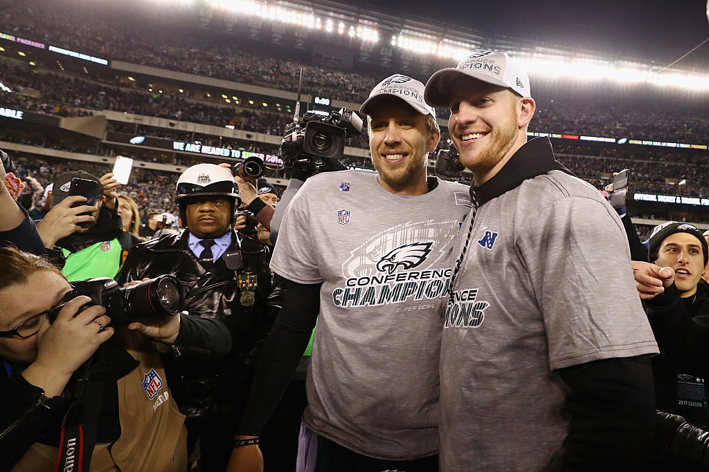 25ac8b039 How Deep Is the Relationship Between Wentz and Foles