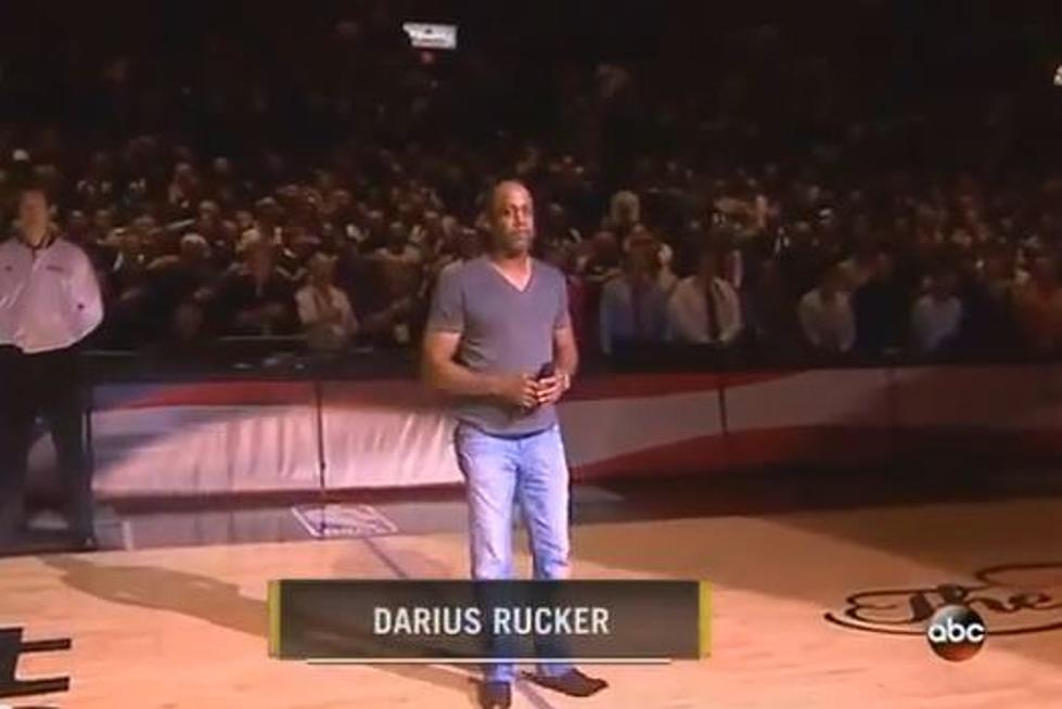 Darius Rucker Sings The National Anthem At The Heat Vs Spurs Game And Kinda Botched It Video