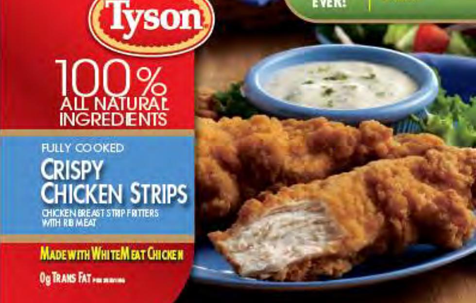 Tyson Chicken Strips Recalled, Includes Hannaford, Walmart