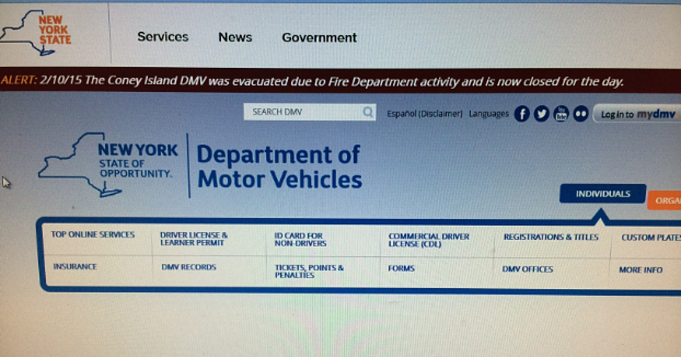 NYS DMV Website Ranked #2 In The Nation