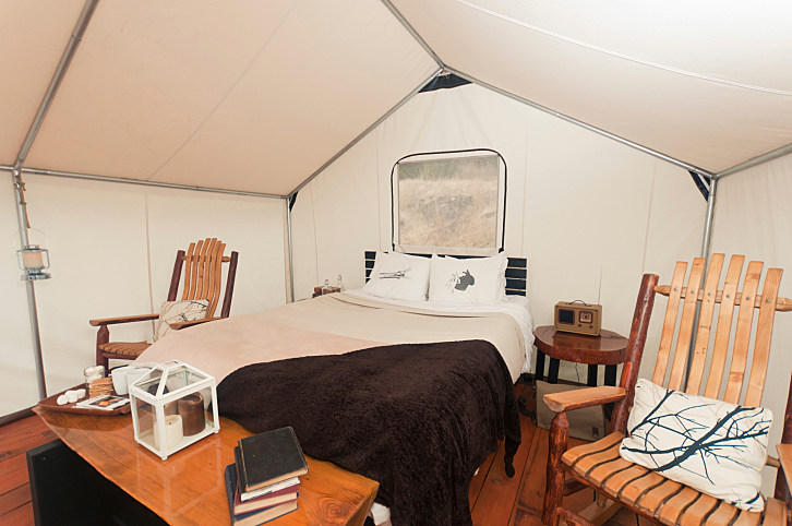 Nature + Comforts of Home = Glamping