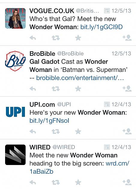Gal Gadot Cast As Wonder Woman In Upcoming Warner Bros Movie