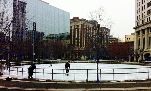 Ice Skating Season Starts At Rosa Parks Circle Downtown