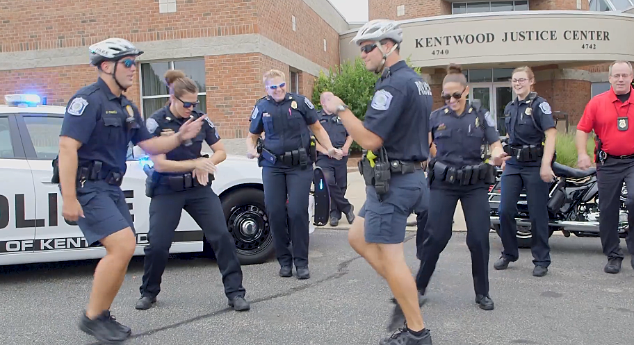 Kentwood PD Takes on the Lip Sync Challenge