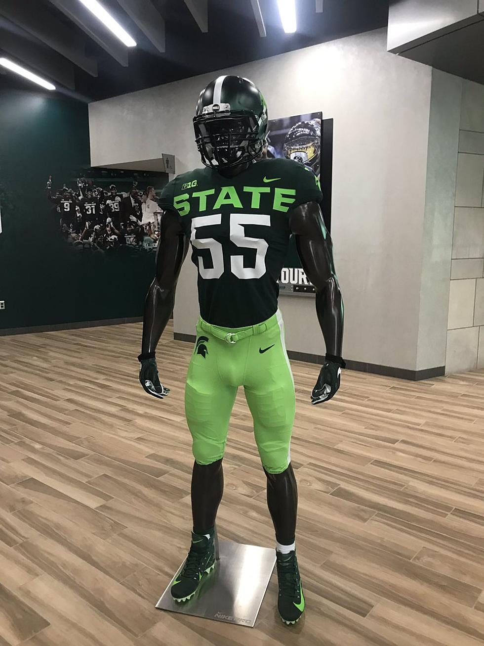 huge discount 5942c f1ddb MSU Unveils New Alternate Football Jersey, Twitter Laughs