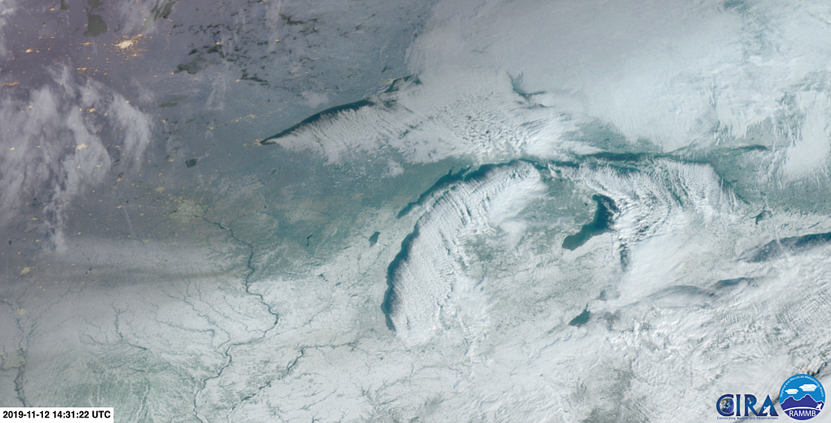 Watch The Lake Effect Snow On November 12th, 2019 From Space - Mix 95.7FM - Today's Variety
