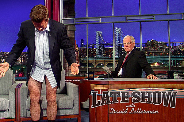 Alec Baldwin and David Letterman Pull Their Pants Down on