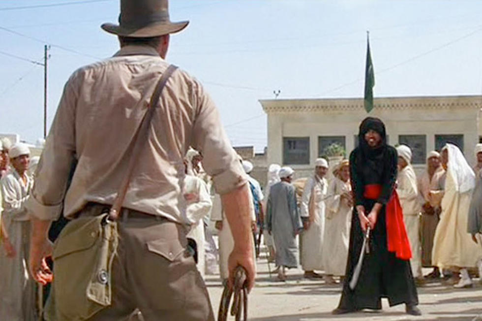 Raiders of the Lost Ark' Deleted Scene: Watch the Original Indiana Jones  vs. The Swordsman Fight