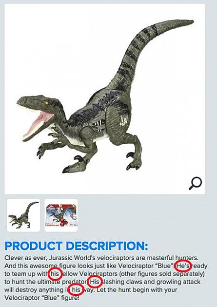 Hasbro's 'Jurassic World' Dinosaur Toys Are All Male
