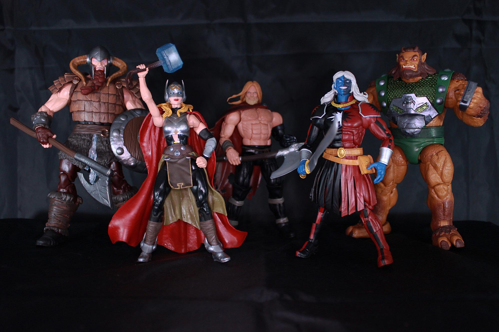 San Diego comic-con 2017 Hasbro Exclusive Thor Ragnarok Marvel Legends BATTLE FOR ASGARD Pack de 5
