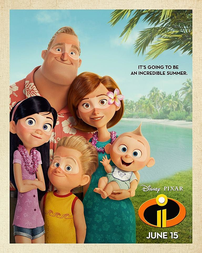The Incredibles 2 Features The Return Of Craig T Nelson Holly Hunter And Sarah Vowell Voicing Your Favorite Superhero Fam Along With Huck Milner Voicing