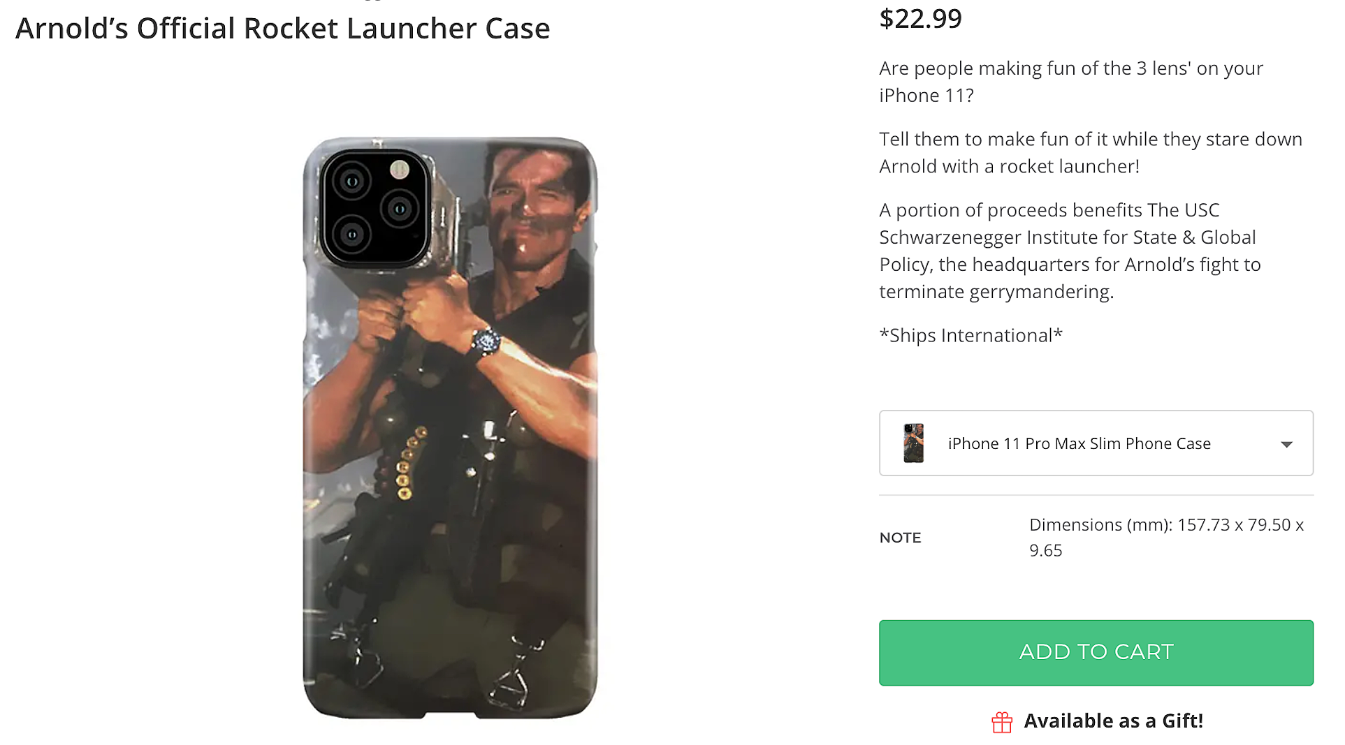 Arnold Schwarzenegger Is Selling Iphone 11 Camera Bazooka Cases