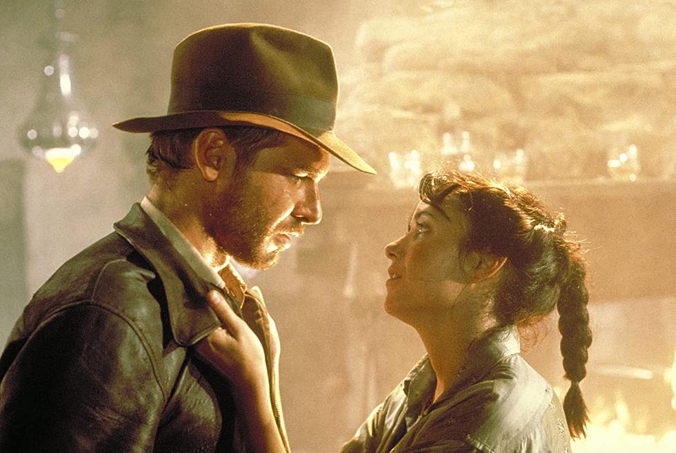 "Indiana Jones (Harrison Ford) right and Marion Ravenwood (Karen Allen) left in ""Raiders of the Lost Ark"" (1981)"