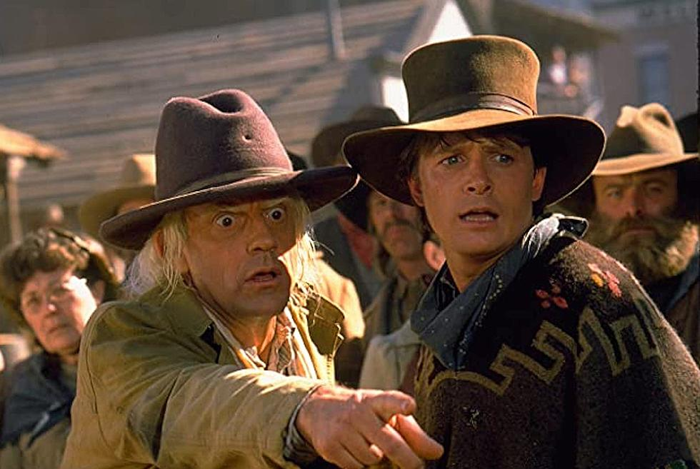 "Michael J. Fox and Christopher Lloyd in ""Back to the Future Part III""."
