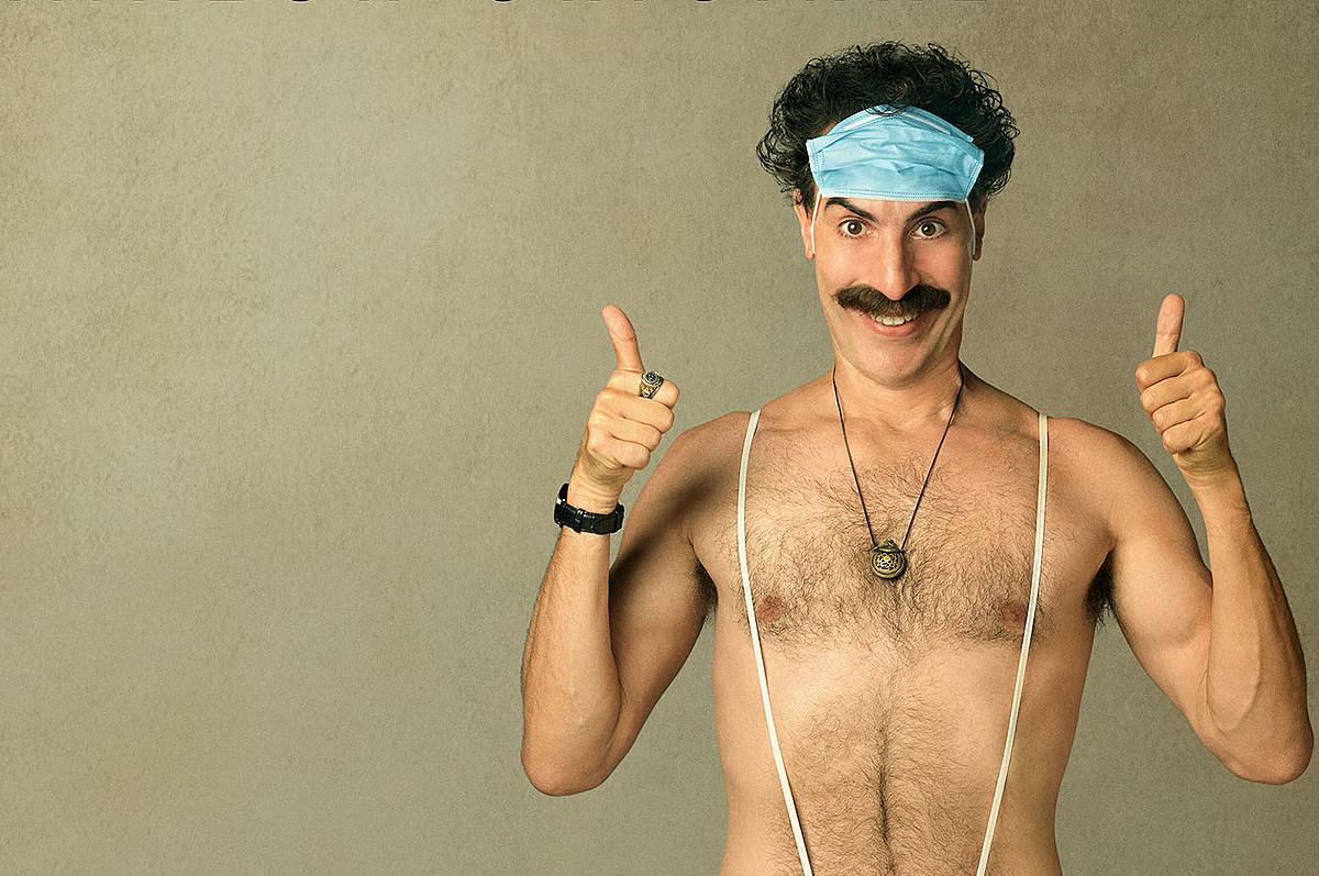Borat naked son