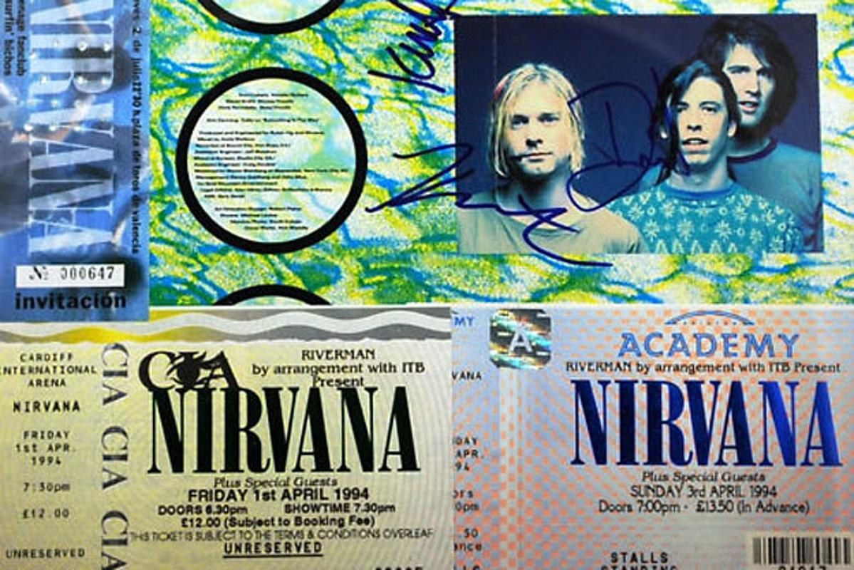 nirvana autographed cd fetches five