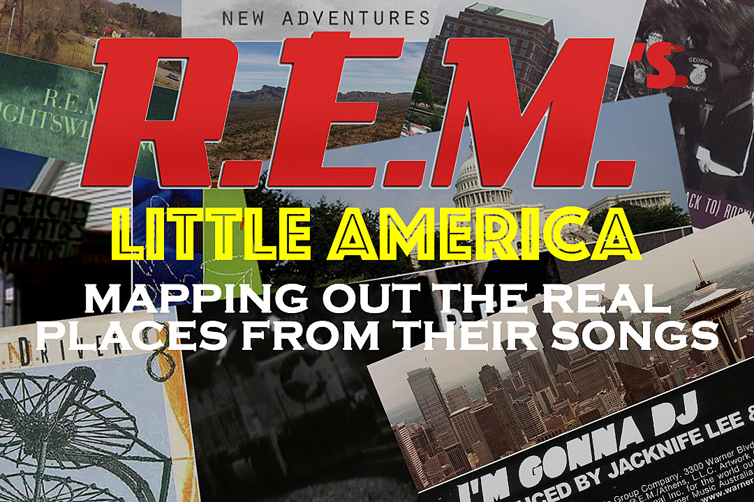 American Map Company Inc.R E M S Little America Mapping Out The Real Places From Their Songs
