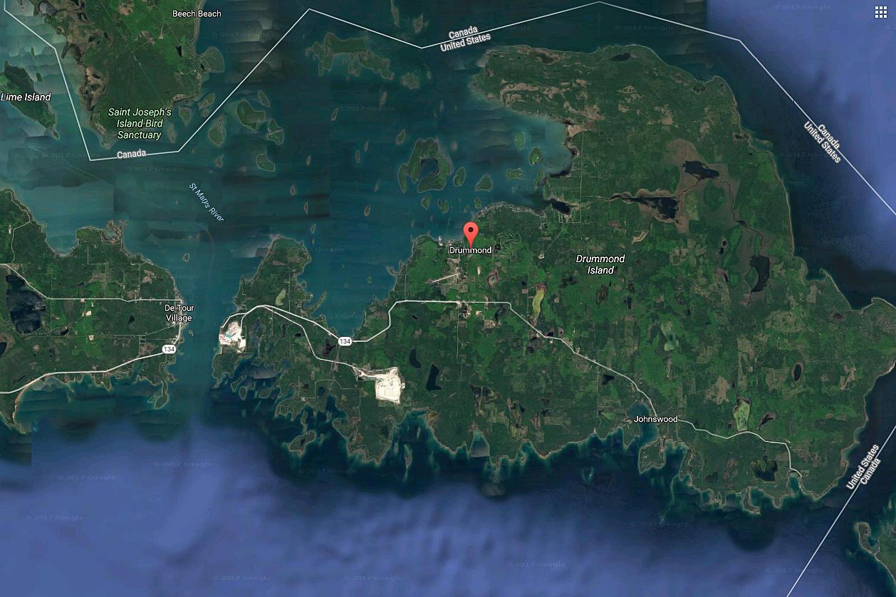 Mining Explosion on Drummond Island Registers 2.7 on Richter ... on douglas island map, fairfield island map, mackinac island map, darby island map, edward island map, great lakes map, rose island map, neebish island map, clover island map, watson island map, wilson island map, lake island map, fiordland island map, new brunswick island map, bad axe map, smith island map, hall island map, canton island map, dollar bay map, baker island map,