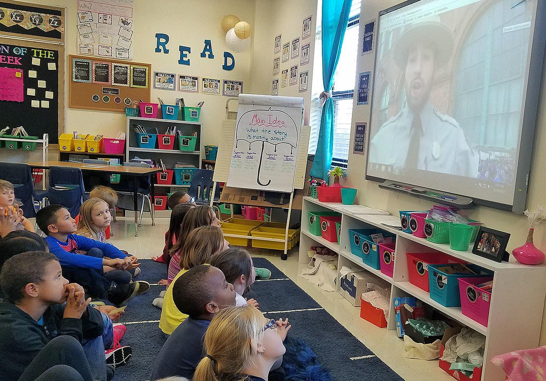 Parkview Elementary Students Visit Edison's Lab Via Skype