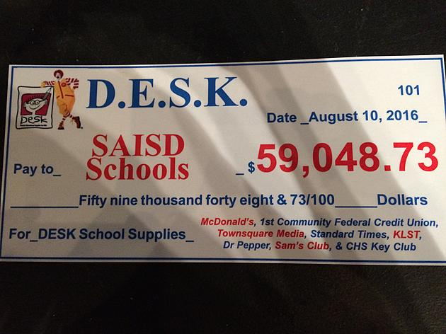 DESK Delivers Donations To SAISD