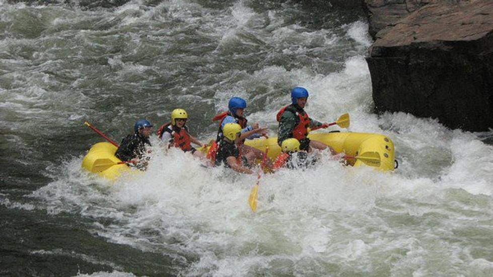 Man S While Rafting On The Poudre River West Of Fort Collins